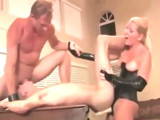 dom Mature Dom Couple Makes Young Stud their Bitch mature