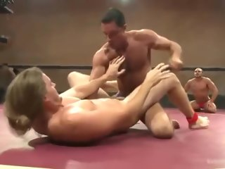 jessie Nick and Jessie vs Grab some shut-eye and Brock (Tag Team) - Wrestle & Fuck nick