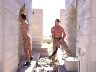 desert Denuded in the desert bdsm spank action naked