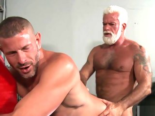stallion Old Gay Stallion Teaches Young Stud a thing or two - Clay Towers, Jake Marshall gay